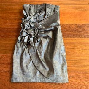 Jessica McClintock Silver Flower Dress